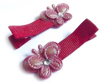 Red Butterfly Hair Clips Red Hair Clips Spring Hair Clips Summer Hair Clips Baby Girl Hair Clips Baby Hair Clips Toddler Girl Hair Bows