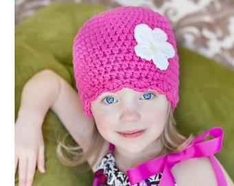 Pink Newborn Baby Girl Toddler Girl/'s Women/'s Flapper Beanie Crochet Flower Hopsital Hat Pretty Shower Gift Spring Photo Prop Back To School