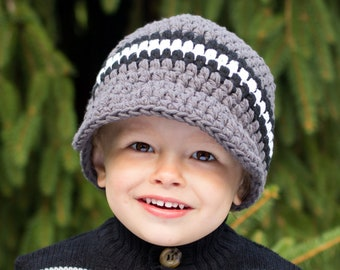 CLEARANCE Boys Hat Baby Hat Baby Boy Hat Toddler Hat Toddler Boy Hat Mens Hat Black Gray White Baby Cap Toddler Cap Boys Cap Mens Cap