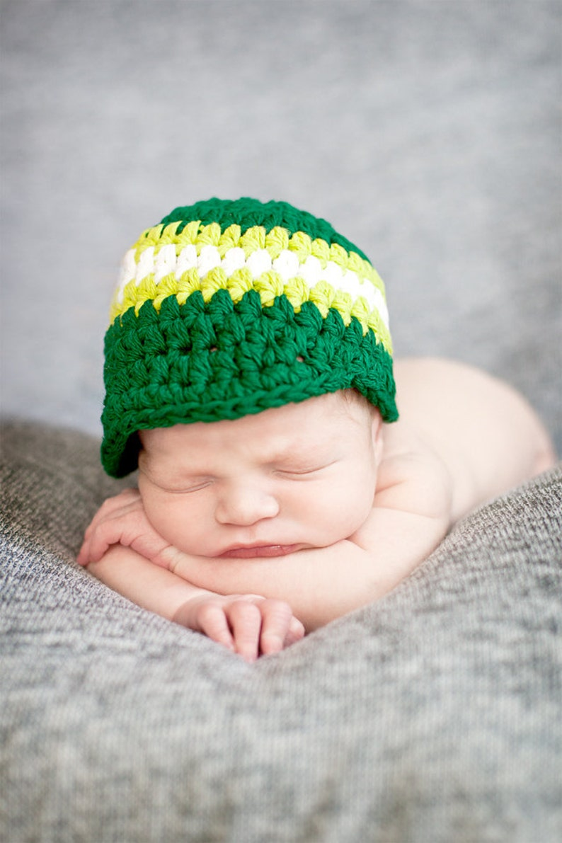 Newborn baby boy hat emerald green lime green white photo props for boys hospital hat unique baby shower gift toddler boy men/'s sizes