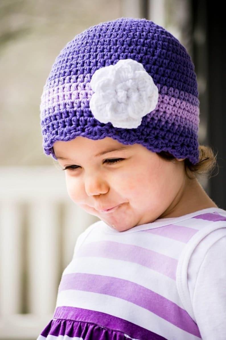 64ba865cb4460 Baby Toddler Girl Women s Purple Lavender Crochet Flower