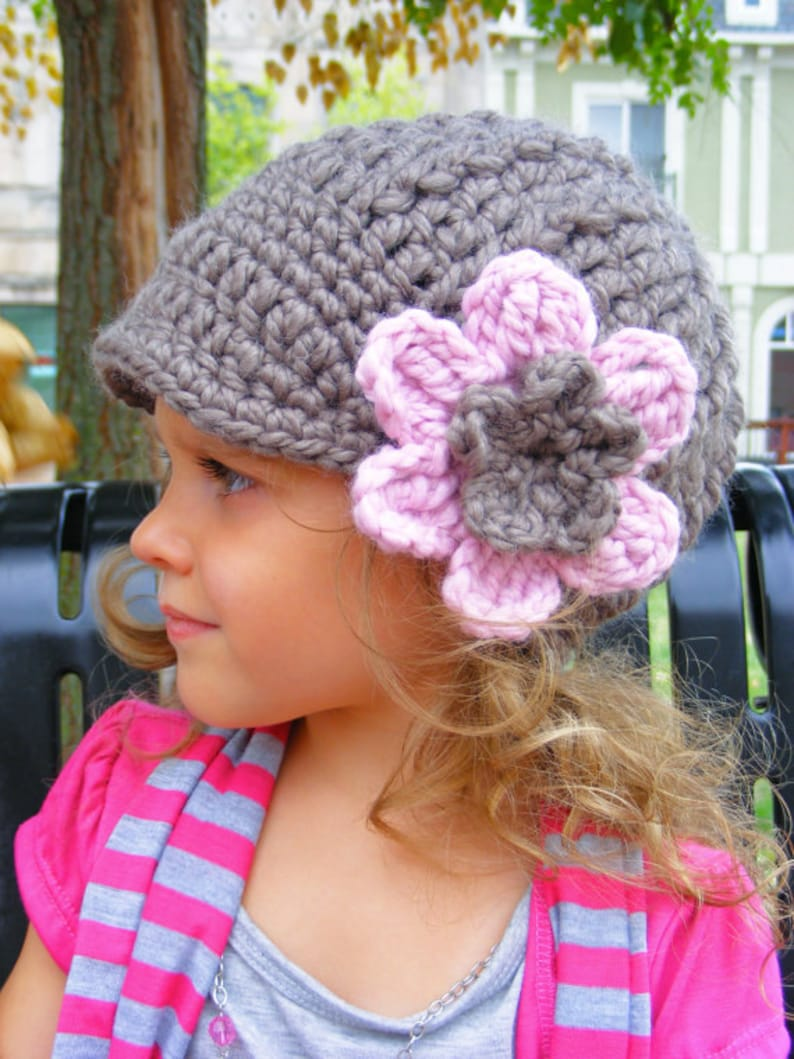 Custom baby girl hat 32 colors 9 to 12 month chunky crochet flower beanie knitwear toddler girl fall winter clothing customize customizable