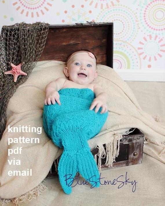 Sirena cola capullo tejer patrónEncantador recién foto | Etsy