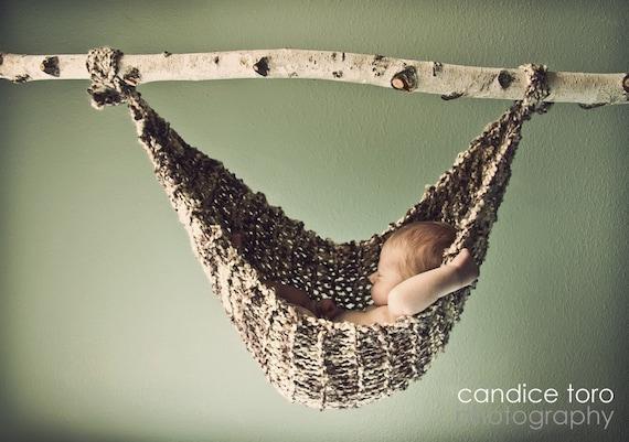 Baby hammock newborn photo prop birch ready