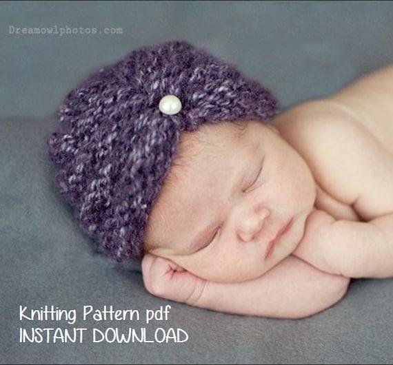 Purl Ridge Baby Turban Hat Knitting Pattern PDF 118 INSTANT  4430f5f12e6