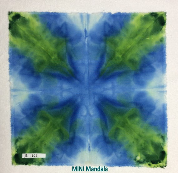 Ice Dyed MINI-Mandala Fabric Square Aprox 11 x 11 Inches OOAK | Etsy