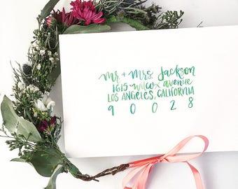 Modern Calligraphy Custom Envelope Addressing