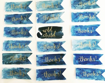 Watercolor Favor Tags {set of 20}