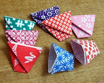 25 Assorted Little Washi Paper Origami Cups