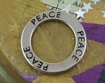 2 PEACE Circle Pendants - Charms     (JWL)