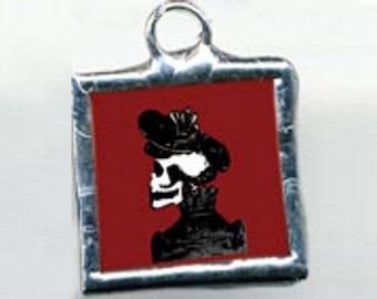 Victorian Catrina (Lady) Calavera Charm
