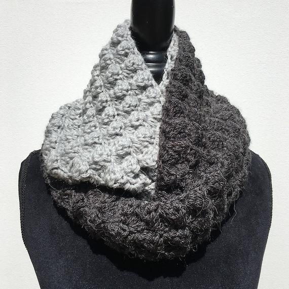 Infinity Scarf Crochet Pattern Two Tone Infinity Crochet Etsy