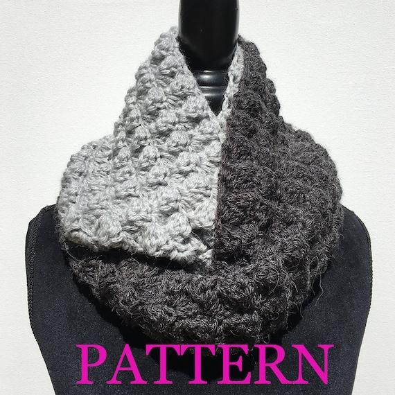 Infinity Scarf Crochet Pattern Two Tone Infinity Crochet Pattern Gray Infinity Scarf Pattern Instant Download Crochet Scarf Pattern Impressive Infinity Scarf Crochet Pattern