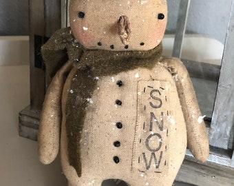 Primitive Snowman Digital PATTERN Jake
