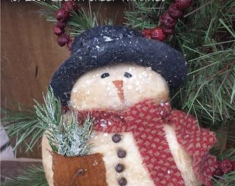 Primitive Snowman PATTERN