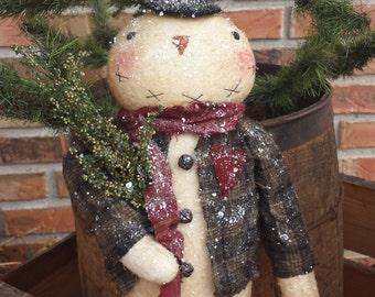 Primitive Snowman PATTERN Sam