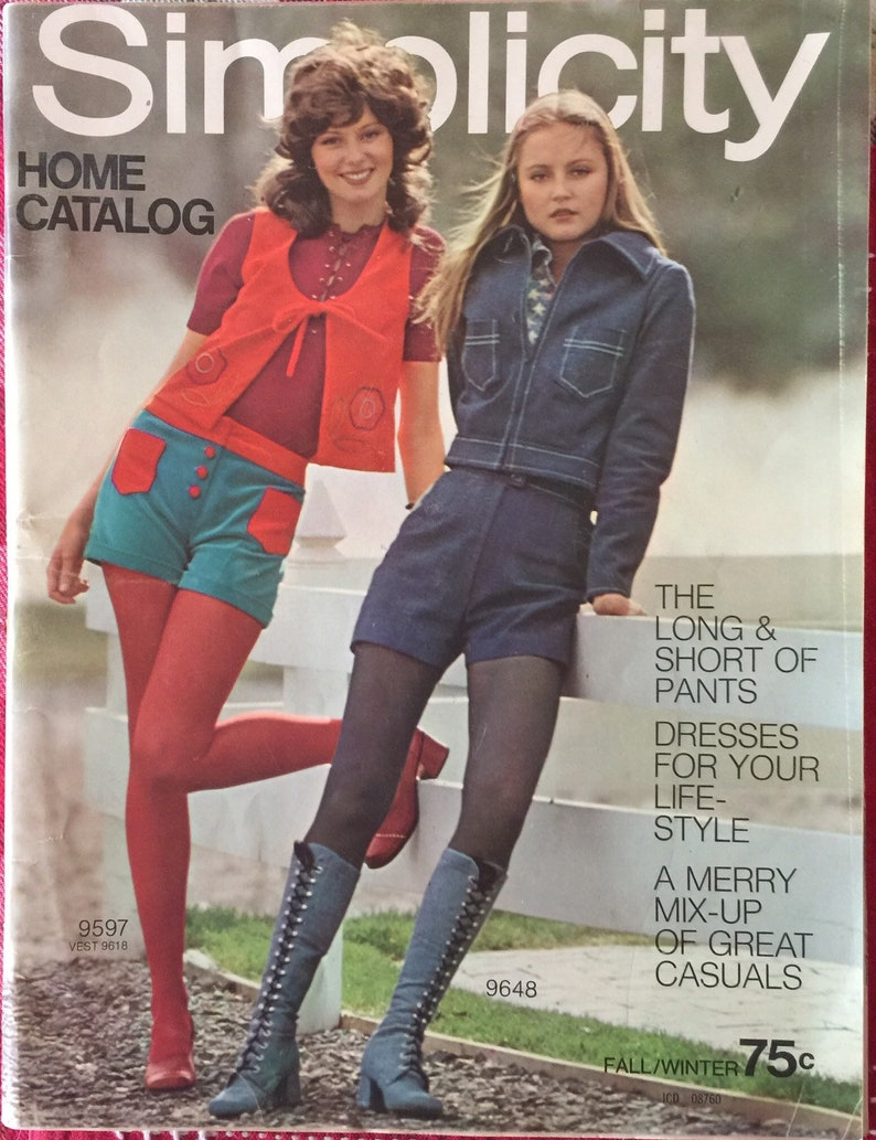 Vintage 70s Fall Winter 1971 Simplicity Home Catalog Sewing image 0