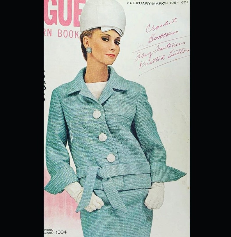 Vintage 60s Vogue Pattern Book February March 1964 Sewing image 0