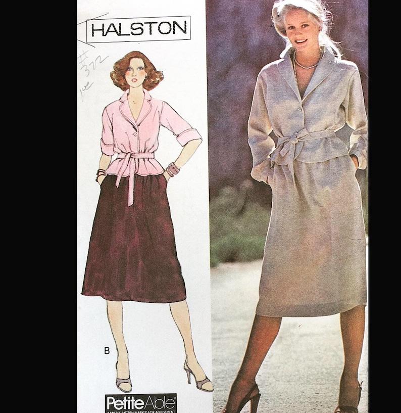 Vintage 70s Halton Designer Dirndl Skirt Tie Belt Tunic Top image 0
