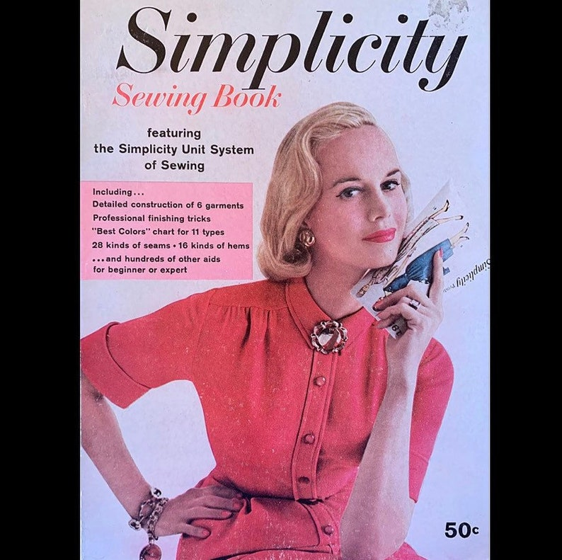 Vintage 50s Simplicity Sewing Book Unit System Learn to Sew image 0