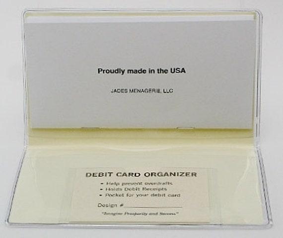 Emerson Checkbook Cover Debit Receipt Holder Handmade in the USA
