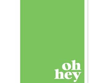 Oh Hey - Color Block Greeting Card