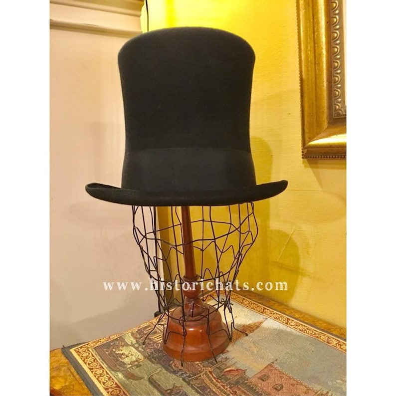Victorian Men's Hats- Top Hats, Bowler, Gambler 19th Century Stovepipe Tophat $155.60 AT vintagedancer.com