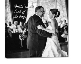 first dance father daughter dance wedding photo gift art text etsy