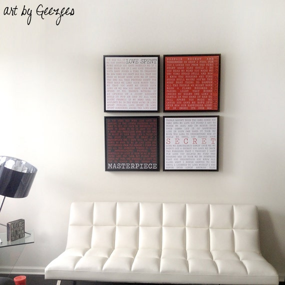 Holiday Gift 12x12 Floating Frame Canvas Word Art Home Decor Etsy