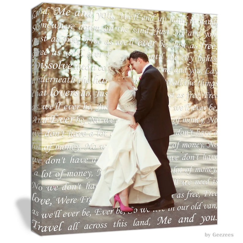 Holiday Gift  Anniversary Gift for Couple First Dance Lyrics/ image 0