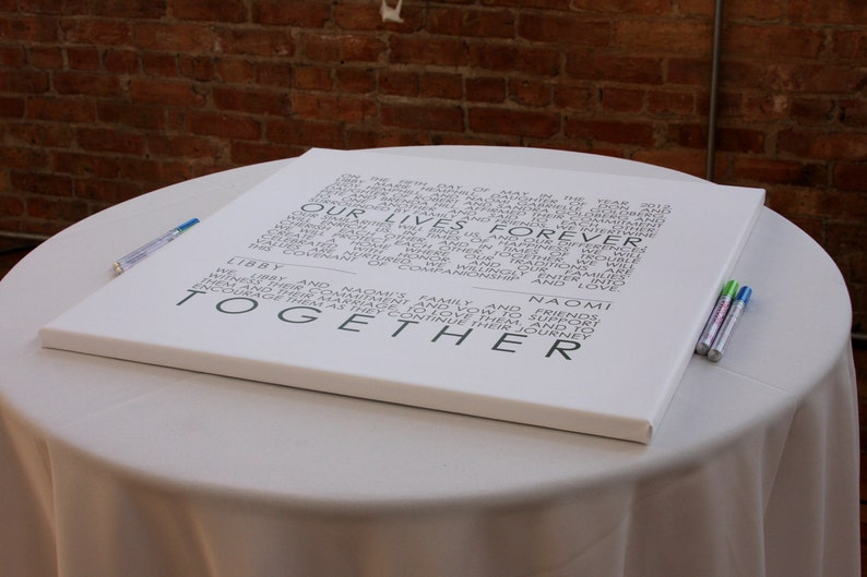 Holiday Gift Mr and Mrs. Wedding Sign Reception Guest Book image 0