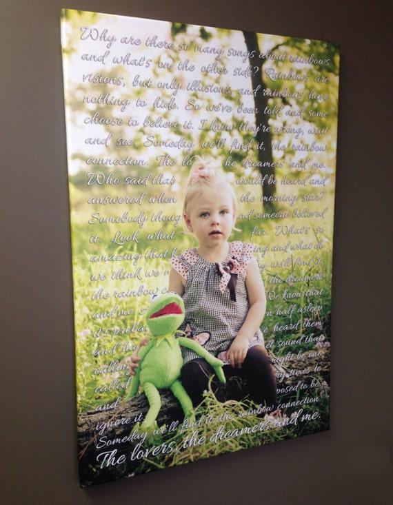 custom birthday gift new dad gift photo of kids picture