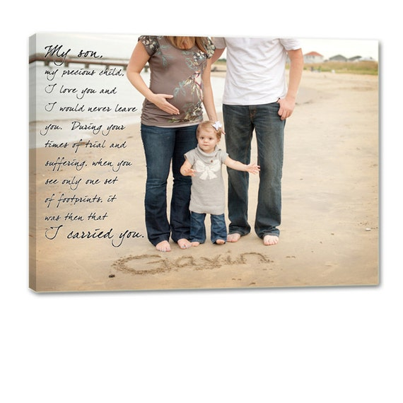 Holiday Gift Personalized Gift For Mom Or Dad Newborn Or Soon To Be Parents Photo Wall Art Text Sayings Quotes Canvas Art Geezees
