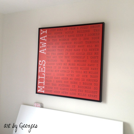 Holiday Gift 28x28 Floating Frame Canvas Word Art Home Decor Etsy