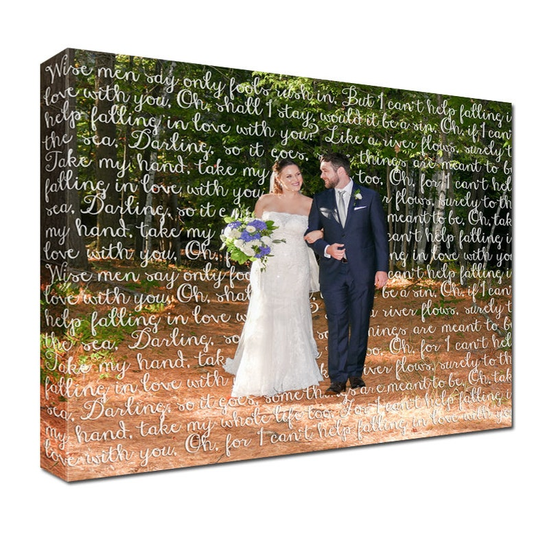Cotton Anniversary Gift for him or her  First Dance Lyrics/ image 0