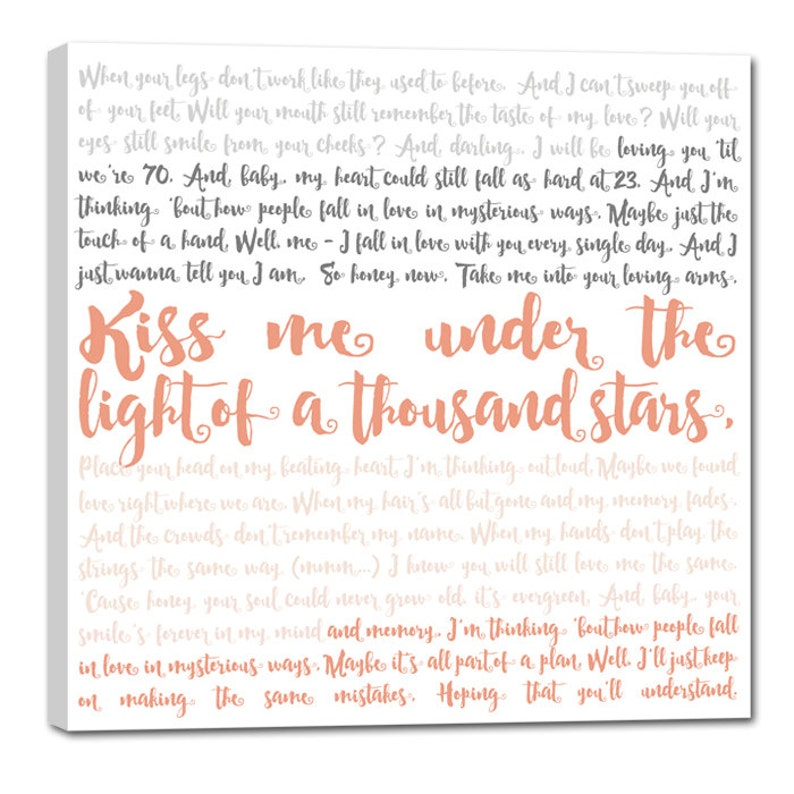 Gift Ideas Custom Canvas Artwork Vows Canvas Vows Geezees image 0