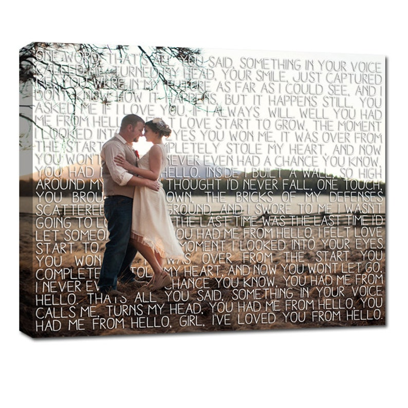 Valentine's Gift Gifts for Couples/  First Dance Lyrics/ image 0