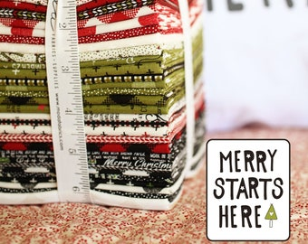 Merry Starts Here By Sweetwater - Fat Quarter Bundle (5730AB) - Sweetwater Merry Starts Here for Moda Fabrics - Christmas Fabric - PREORDER