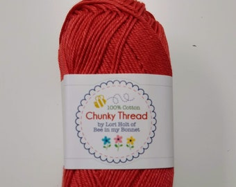 Chunky Thread - Cayenne - by Lori Holt - 50 g Skein Chunky Thread  - Crochet Thread, Knitting Thread, Crafting Thread