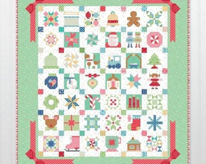Featured listing image: Vintage Christmas Sampler Quilt Kit
