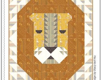 Lion's Head Quilt Pattern by Stacy Iest Hsu for Moda Fabrics (SIH 032G) - Using Safari Life Fabric