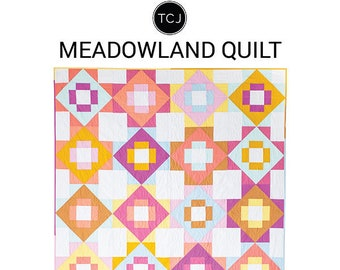Meadowland Quilt Pattern - by Then Came June (TCJ 114) - 6 different size options - Fat Quarter Friendly