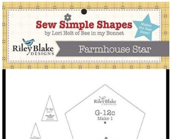 Farmhouse Star Sew Simple Shapes by Lori Holt  - STT-11530