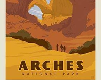 "Arches National Park Poster Panel - 36"" x 43 1/2"" - Riley Blake Designs (P8785-ARCHES) - National Park Fabric"