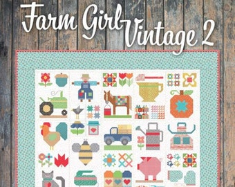 Farm Girl Vintage 2 Book by Lori Holt (P051-FARMGIRL2) - Pattern Book by Lori Holt of Bee in my Bonnet - It's Sew Emma