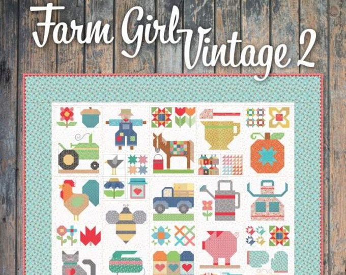 Featured listing image: Farm Girl Vintage 2 Book by Lori Holt (P051-FARMGIRL2) - Pattern Book by Lori Holt of Bee in my Bonnet - It's Sew Emma