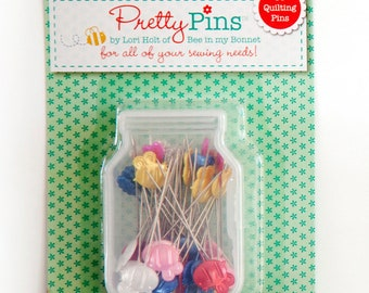 Lori Holt - 60 Quilting Pins in Assorted Colors
