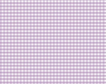 "Lavender Small Gingham by Riley Blake Designs (C440 120) - 1/8"" Gingham"
