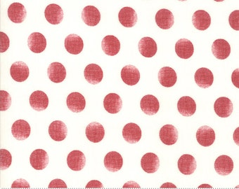 Merry Starts Here - Snowballs - Red - Sweetwater - Moda Fabrics - Christmas Fabric (5738 24) - Sweetwater Merry Starts Here