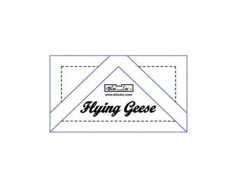 "Bloc Loc - Flying Geese Ruler 1/2"" x1"" - Quilting Tool"